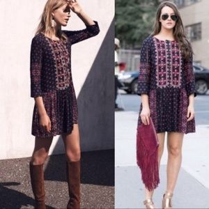 Anthro Vanessa Virginia Kaleidoscope Shirt dress